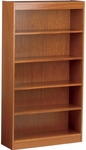 Wooden Bookcase with 4 Adjustable Shelves - Oak Finish - 36''W x 12''D x 72''H [BC3672-VCO]