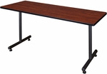 Kobe 72''W x 24''D Laminate Training Table with PVC Edge - Cherry [MKTRCT7224CH-REG]