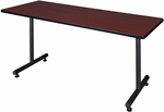 Kobe 72''W x 24''D Laminate Training Table with PVC Edge - Mahogany [MKTRCT7224MH-REG]