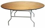 Round Plywood Folding Table - 72''W [TABPLY72RD-AS]