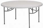 Round Resin Folding Table - 72''W [TABRES72-AS]