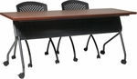 OSP Furniture 72''W x 24''D Training Table - Titanium Frame with Cherry Top [84226TC-OS]