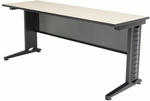 Fusion 72''W x 24''D Laminate Training Table with PVC Edge - Beige [MFTT7224BE-REG]