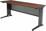 Fusion 72''W x 24''D Laminate Training Table with PVC Edge - Cherry [MFTT7224CH-REG]
