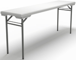 7200 Series 72'' W x 18'' D Rectangular Folding Table - Textured White with Dark Gray Frame [721872DGWT-FS-MAY]