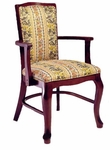 7618 Queen Ann Arm Chair: Upholstered Back & Web Seat - Grade 2 [7618-GRADE2-ACF]