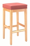 7630 Bar Stool w/ Square Shape Top & Upholstered Seat - Grade 1 [7630-GRADE1-ACF]