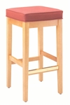 7630 Bar Stoolw/ Square Shape Top & Upholstered Seat - Grade 2 [7630-GRADE2-ACF]
