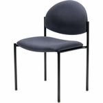 Set of Four 7700 Series Armless Stack Chair with Black Frame [7731-E3-UC]