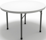 7700 Series 60'' Diameter Round Folding Table - Textured White with Dark Gray Frame [770060DGWT-FS-MAY]