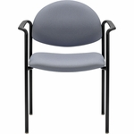 7700 Series Stack Chair with Four Legged Base - Set of Four - Black Frame [7732-E3-FS-UC]