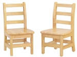 8'' - 16'' High Children's Ladderback Chairs - Set of 2 [5908JC2-JON]
