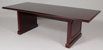 8' Wood Veneer Conference Table Mahogany Finish [910MH-FS-FDG]