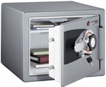 Large Fire Safe with Dual Key Combination Lock and .8 CU Ft. Capacity - Gray [OS0401-FS-SEN]