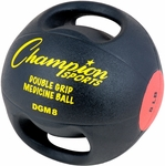 8 lb. Double Grip Anatomic Medicine Ball in Black and Red [DGM8-FS-CHS]