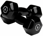 8 lb Pair Vinyl Dumbbells-Black [BSTVD8PR-FS-BODY]