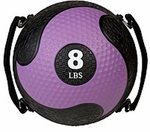 8 lbs. Rhino Ultra-Grip Medicine Ball in Purple [SMD8-FS-CHS]