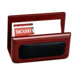 8000 Series Wood and Leather - Business Card Holder [A8007-FS-DAC]