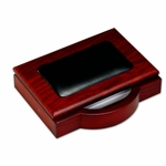 8000 Series Wood and Leather -Memo Holder [A8009-FS-DAC]