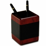8000 Series Wood and Leather -Pencil Cup [A8010-FS-DAC]