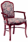 801 Arm Chair w/ Upholstered Back and Web Seat - Grade 1 [801-GRADE1-ACF]