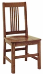 Wooden Armless Mission Dining Chair with 18'' Seat Height [0081-GCC]