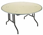 Customizable 810 Series Multi-Purpose Round Deluxe Hotel Banquet/Training Table - 30''H [812-M-BKS]
