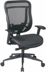 Space 818MX Series Deluxe 2-to-1 Synchro Tilt Control Chair with Matrex Seat - Black [818-11G9C18P-FS-OS]