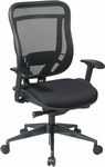 Space 818MX Series Deluxe 2-to-1 Synchro Tilt Control Chair with Mesh Seat - Black [818-31G9C18P-FS-OS]