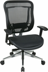Space 818MX Series Executive High Back Chair with Breathable Mesh Back and Contoured Seat [818A-11P9C1A8-FS-OS]