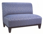 8402 Loveseat w/ Wood Base, Upholstered Spring Back & Seat - Grade 2 [8402-GRADE2-ACF]