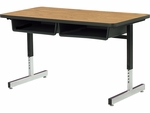 870 Series Cantilever-Leg Double Student Desk with Laminate Top [878-VCO]