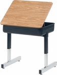 870 Series Cantilever-Leg Laminate Lift-Lid Top Student Desk [873-VCO]