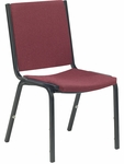 8800 Series Armless Comfort Stacker Chair in Sedona Ruby Fabric and Char Black Frame [8802-RED201-BLK01-VCO]