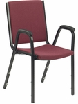 8800 Series Comfort Stacker Chair in Sedona Ruby Fabric and Char Black Frame - 19.5''W x 22.75''D x 33''H [8806-RED201-BLK01-VCO]