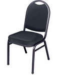 8900 Series Multi-Purpose Stack Chair with Stack Bars,Round Back and Crown Seat [8916SB-VCO]