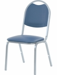 8900 Series Stack Chair with Round Back and Dome Seat in Vinyl Upholstery [8917-VINYL-VCO]
