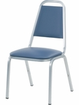 8900 Series Stack Chair with Trapezoid Back and Dome Seat in Vinyl Upholstery [8926-VINYL-VCO]