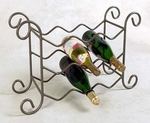 Wrought Iron 21''W x 17''H 9 Bottle Wine Rack [GMC-WN9-FS-GCM]