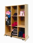 Multi-Purpose 9 Cubby Storage Teaching Center with Footings Along the Base [WB0809-FS-WBR]
