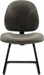 90's™ Sled Base Guest Chair with Fully Upholstered Back [NS31-FS-UC]