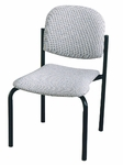 900 Series Stacking Armless Hospitality Chair with Rounded Back and 2'' Upholstered Seat [920-IFK]