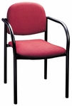 900 Series Stacking Hospitality Armchair with Rounded Back and 2'' Upholstered Seat [921-IFK]