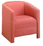 9200 Reception Chair: Open Front Under Border w/ Upholstered Back & Spring Seat - Grade 1 [9200-GRADE1-ACF]