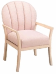 9450 Reception Chair: Upholstered Channel Back & Spring Seat w/ Wood Frame - Grade 1 [9450-GRADE1-ACF]