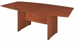 Sandia 95''W x 43''D Boat Shaped Laminate Table - Cherry [SCTBS9543CH-FS-REG]