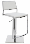 Aaron Adjustable Stool in White [HGBO176-FS-NVO]