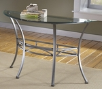 Abbington Metal and Glass 50''W x 28.75''H Console Table - Dark Pewter [4885OTS-FS-HILL]