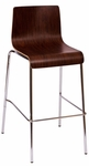 Abby Barstool - Mahogany Laminate Seat and Chrome Frame [JA600BS-MH-BFMS]
