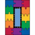 ABC Rainbow Puzzle Rectangular Cut Pile Rug